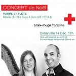Affiche du concert de Mélanie Dutreil et Boris Grelier au profit de la Croix-Rouge le 14 Décembre 2014